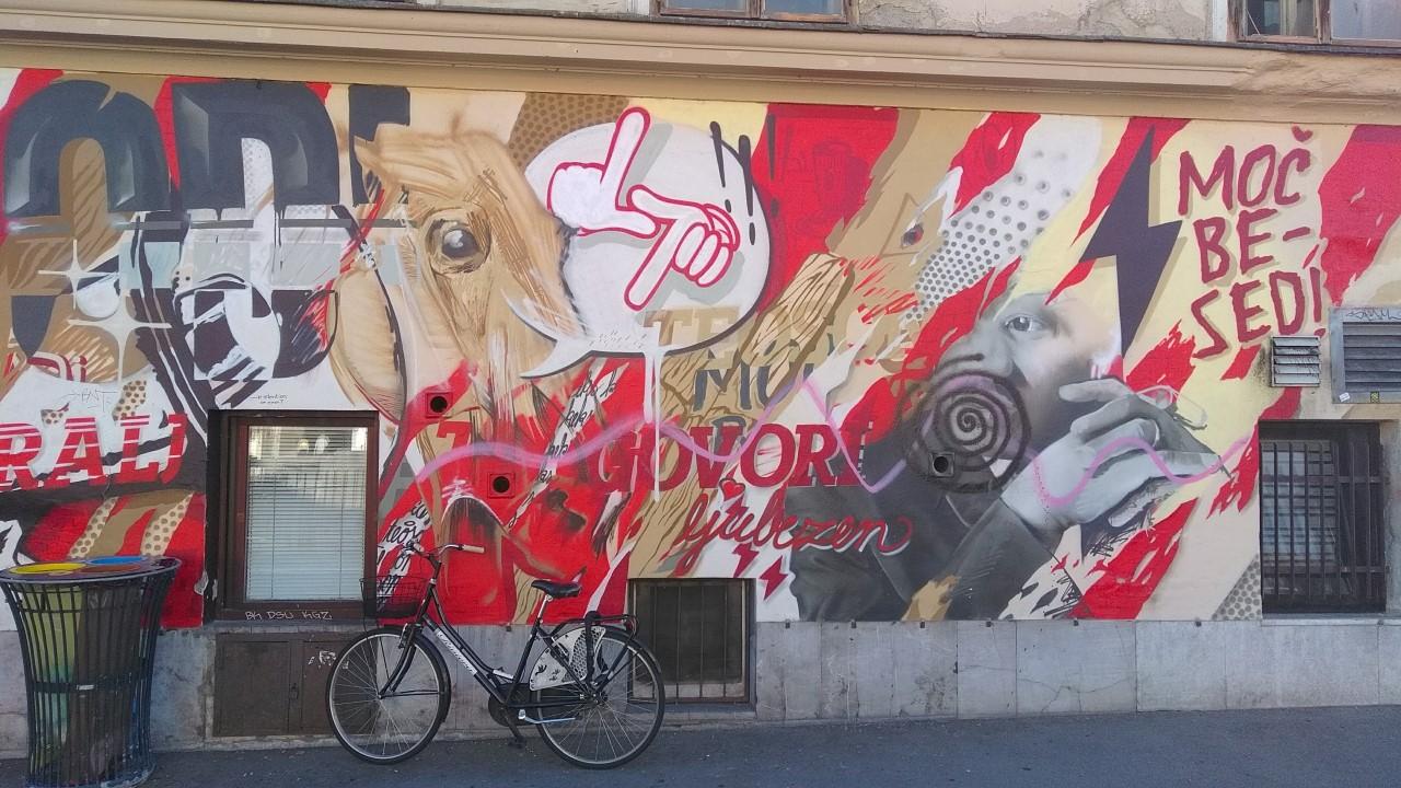 Cool wall Ljubljana